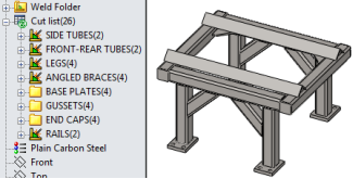 MySolidWorks Learning: Weldments Cutlist