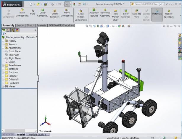West Virginia University NASA Robot Model